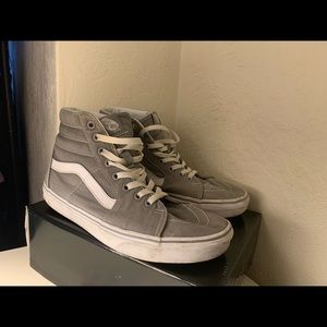 Gray Hightop Vans (gently used)